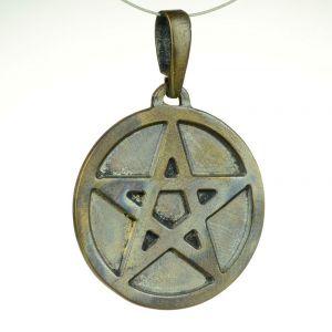 Pentagram pełny, brąz