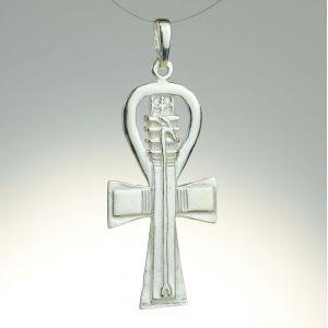 Krzyż Ankh z laską, nieoksydowany
