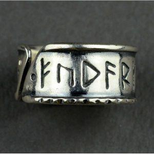 Pierścień z runami Wikingów nr.22-23, oksydowany
