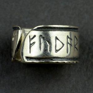 Pierścień z runami Wikingów nr.13-14, oksydowany