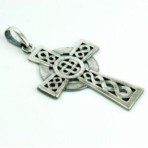 Krzyż celtycki zwykły, posrebrzany (M)